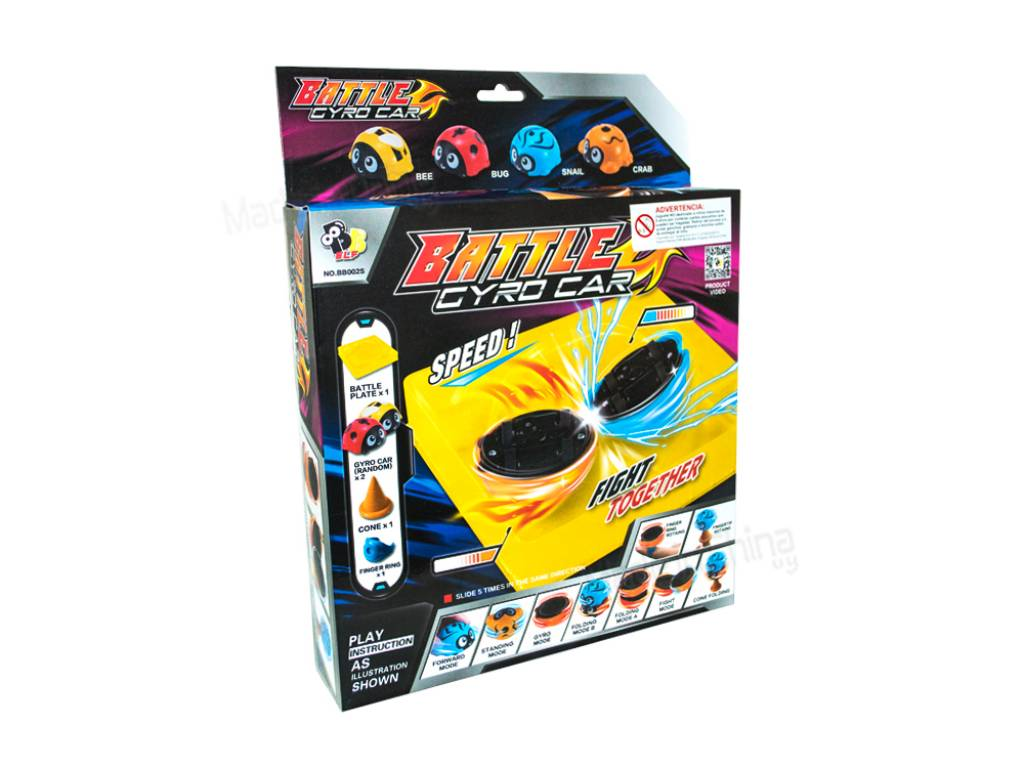 PISTA GYRO CAR SET X 2