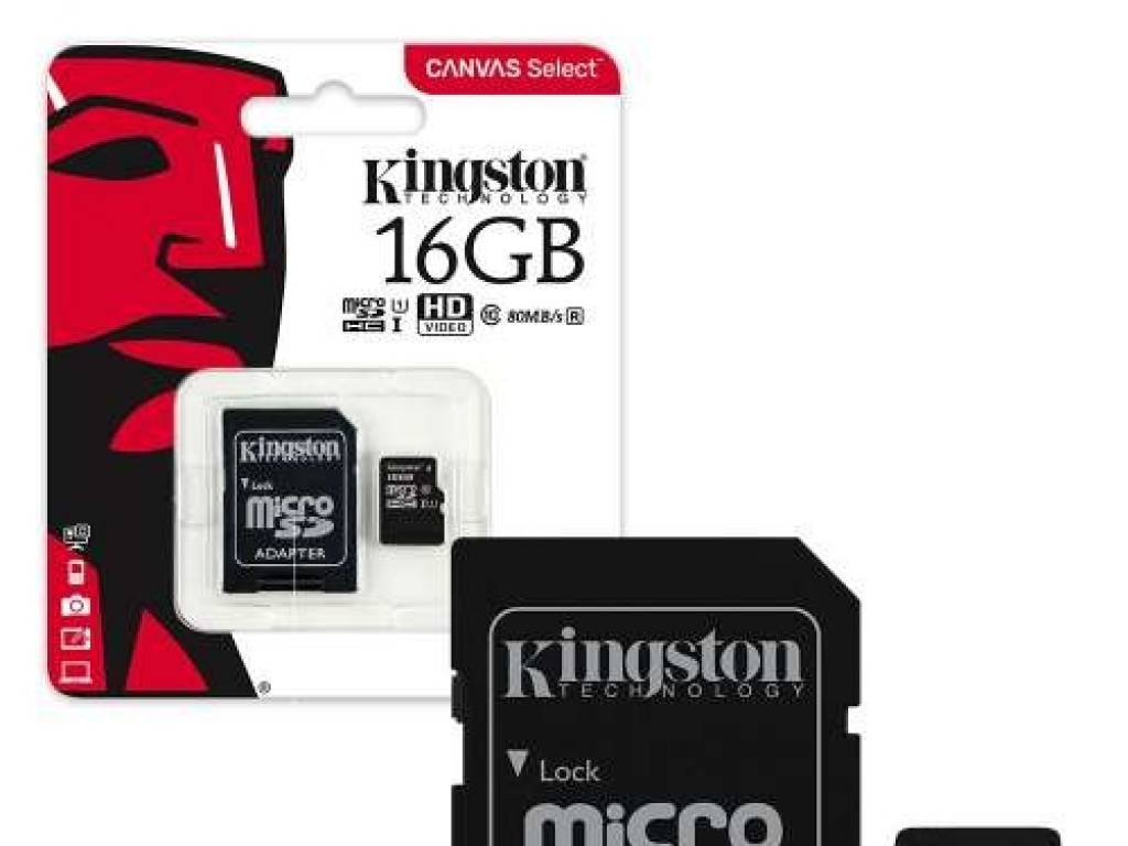 Kingston micro SD Card 16 GB Canvas